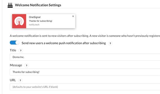 Cómo Configurar Notificaciones Push En WordPress. Configuración de bienvenida