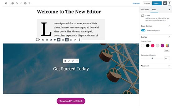 Default WordPress editor