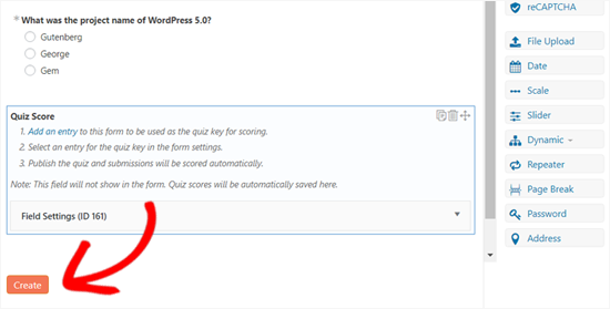 Tạo Trắc nghiệm trong WordPress bằng Biểu mẫu ghê gớm