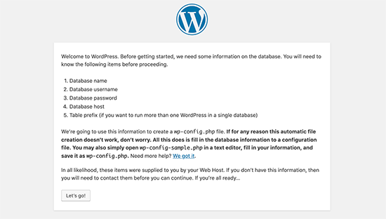 Requisitos de instalación de WordPress