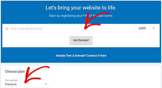 Get a domain name and web hosting