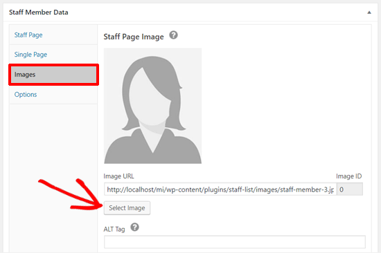 Add Images to Staff Member Data