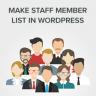 How to Make a Staff Member List in WordPress