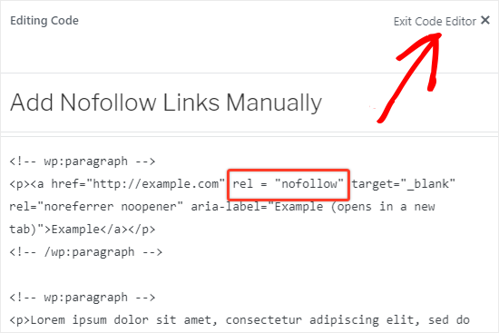 Add nofollow to external links