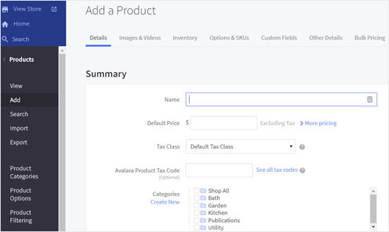 Add New Products to BigCommerce Store