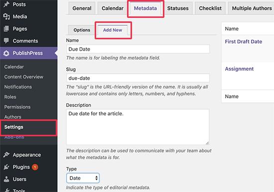 Özel bir editoryal meta veri alanı ekleme