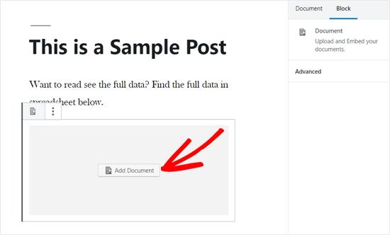 WordPress Post Editor'da Belge Seçeneği Ekleme