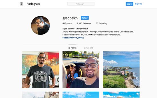 Instagram个人资料