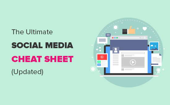 Complete social media cheat sheet for WordPress users