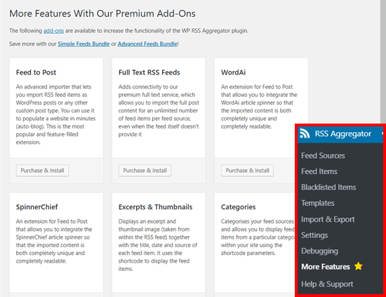 WP RSS Aggregator Plugin Addons