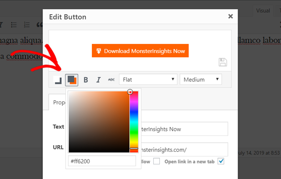 Change Button Background Color in WordPress Classic Editor