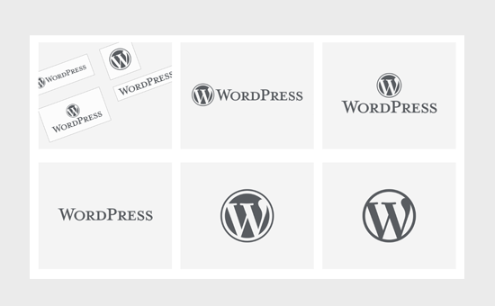 WordPress logo examples