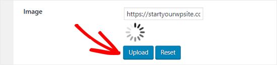 WordPress Infinite Scroll için yeni bir yükleme resmi yükle