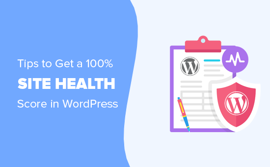 Tips to get a 100% site health score in WordPress