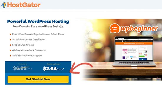 HostGator get started
