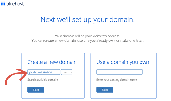 create a free domain name and website