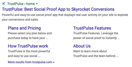 Sitelink Google generati dal titolo della pagina