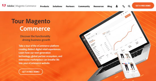 The Magento front page