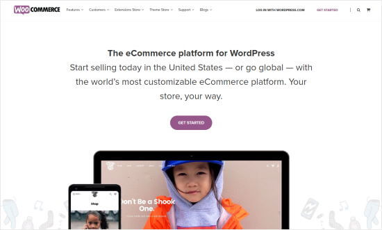 The WooCommerce website