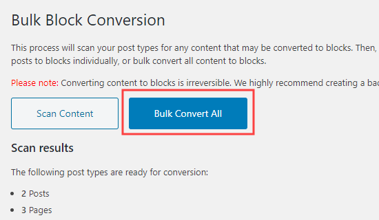 The Bulk Convert All button