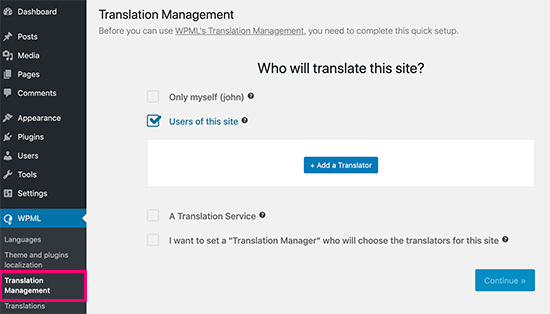 Adding translators