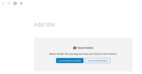 Launch Beaver Builder