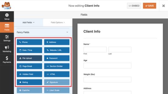 aggiungere altri campi al modulo di richiesta del cliente