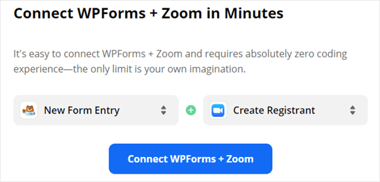 Using Zapier to connect WPForms and Zoom