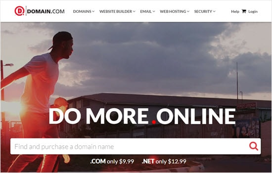 Registering a domain name with Domain.com