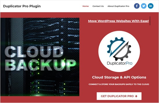 O plugin do Duplicator pro para WordPress