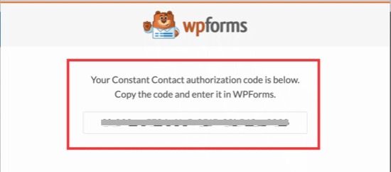 WPForm authorization code