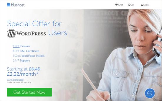 L'offerta di Bluehost per i lettori di WPBeginner