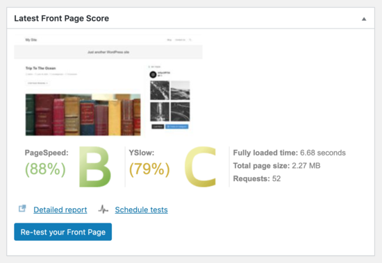 Site results