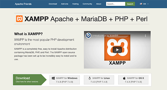 Download XAMPP to your computer