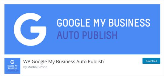 Plug-in di pubblicazione automatica di Google My Business