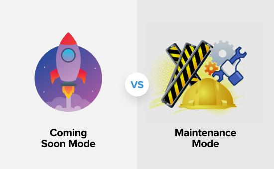 Comprendre la différence entre le mode prochainement et le mode maintenance