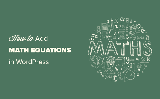 Writing math equations in WordPress