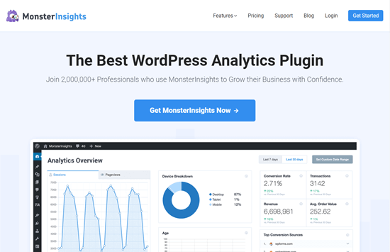 monsterinsights en iyi analitik wordpress eklentisi