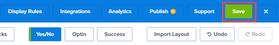 Asegúrese de hacer clic en el botón Guardar para guardar sus cambios en la campaña.