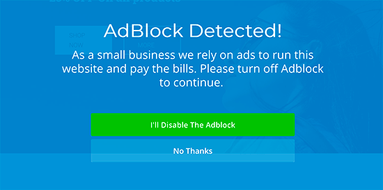 AdBlock software installed
