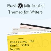 25 Best Minimalist WordPress Themes for Writers