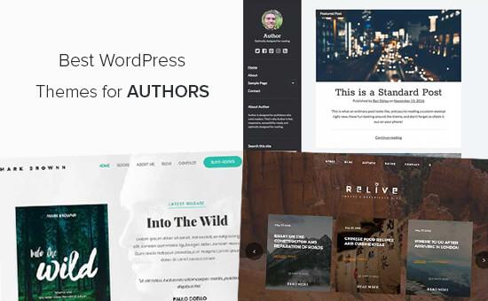 I migliori temi WordPress per gli autori