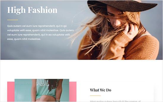 Divi Fashion Blog theme
