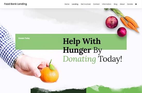 Divi - Food Bank Layout Pack