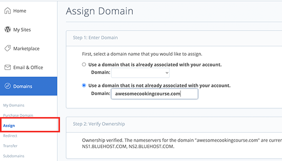 Adding an addon domain in Bluehost