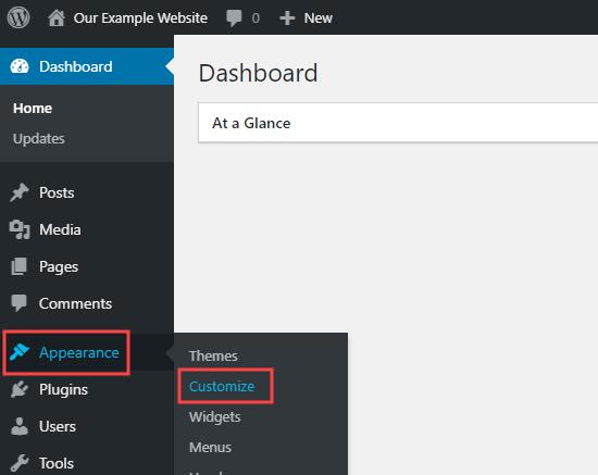 Using WordPress's theme customizer