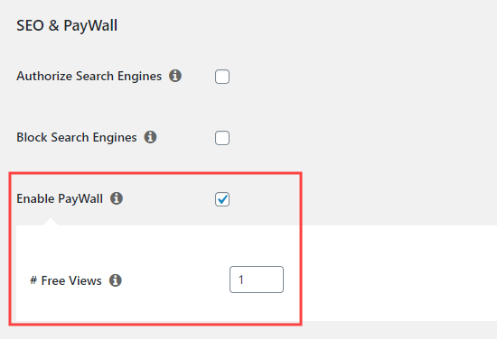 Enabling the paywall feature in MemberPress